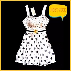NWT URBAN OUTFITTERS White/Black Polka Dot Dress
